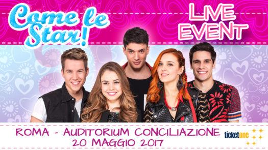 I giovani protagonisti di Come le star! saranno in concerto a Roma il 20 maggio
