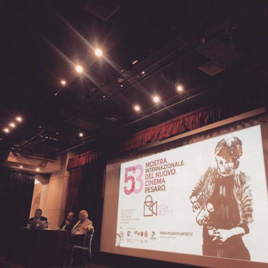 Conferenza stampa Pesaro Film Festival 2017