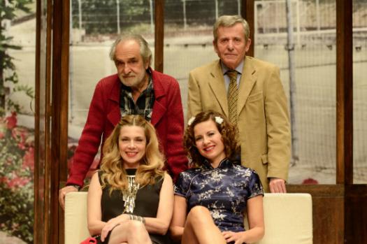 Nini Salerno, Maurizio Micheli, Benedicta Boccoli e Antonella Elia in Il più brutto weekend della nostra vita