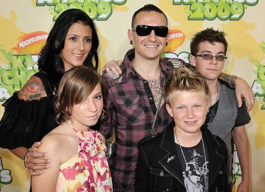 Chester Bennington e famiglia nel 2009