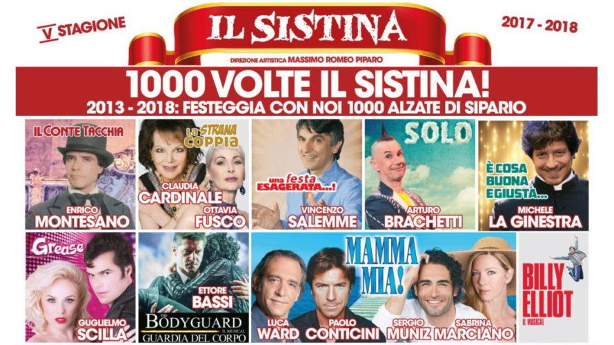 Ricca di grandi appuntamenti la stagione 2017/18 del Teatro Sistina di Roma, dopo cinque anni di direzione diMassimo Romeo Piparo. Da Mamma mia! a The bodyguard, da Grease a Billy […]