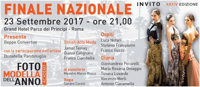 Roma, 20 settembre 2017 Riflettori accesi sulla Moda con Fotomodella dell'anno Academy 2017. Sabato 23 settembre alle ore 21 approderà per la prima volta a Roma al Grand Hotel […]