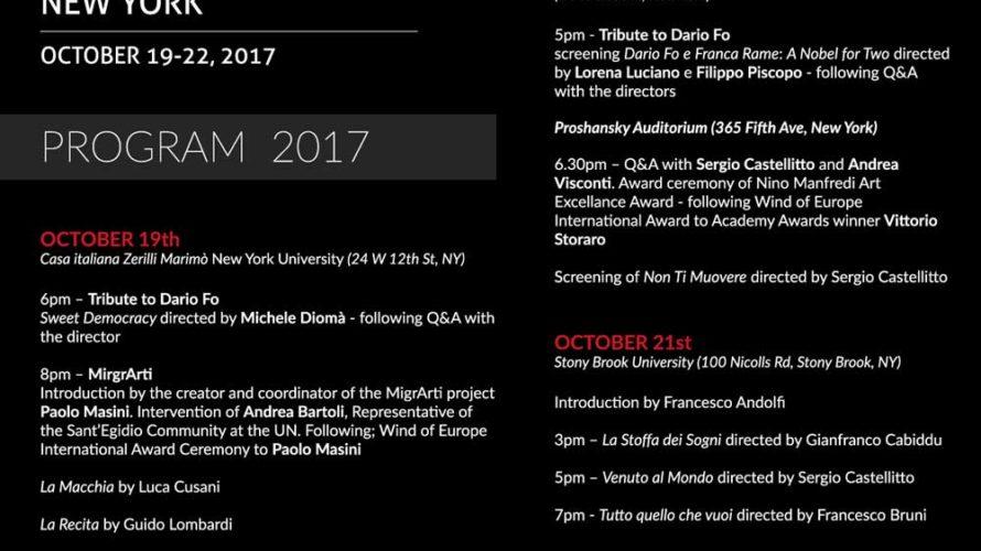 """Si svolgerà dal 19 al 22 ottobre a New York la seconda edizione di """"Italy on screen Today"""", la rassegna di cinema italiano dedicata alle proiezioni di film di maggior […]"""