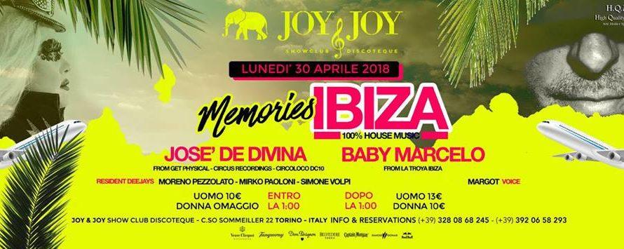 "Torna a Torino un dj molto amato: Jose de Divina, direttamente dalla Isla Blanca, venerdì 30 Aprile per ""Memories Ibiza"". Sarà un'altra One Night House targata Vertigo, al Joy&Joy di […]"