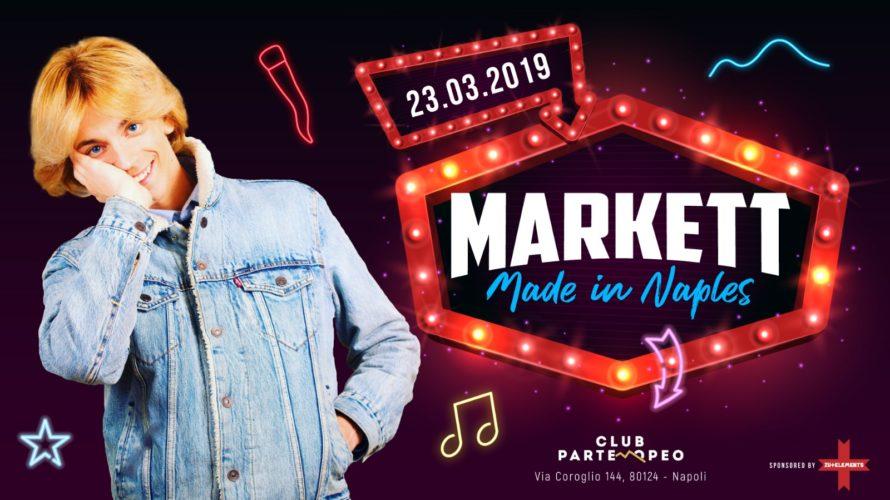 """Markett celebra Napoli: la città più bella del mondo Sabato 23 Marzo 2019 ore 23:30  Questa settimana, il Club Partenopeo di Napoli ospiterà l'edizione """"Made in Naples"""". La musica, […]"""