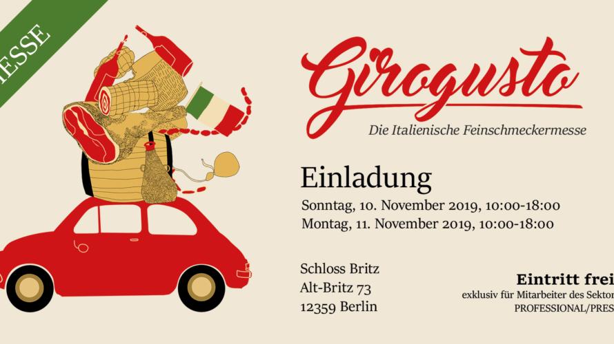 Domenica 10 e lunedì 11 novembre 2019 a Berlino Girogusto, la prima fiera B2B tutta italiana dedicata alle eccellenze enogastronomiche del bel paese, torna a Berlino il 10 e l'11 […]