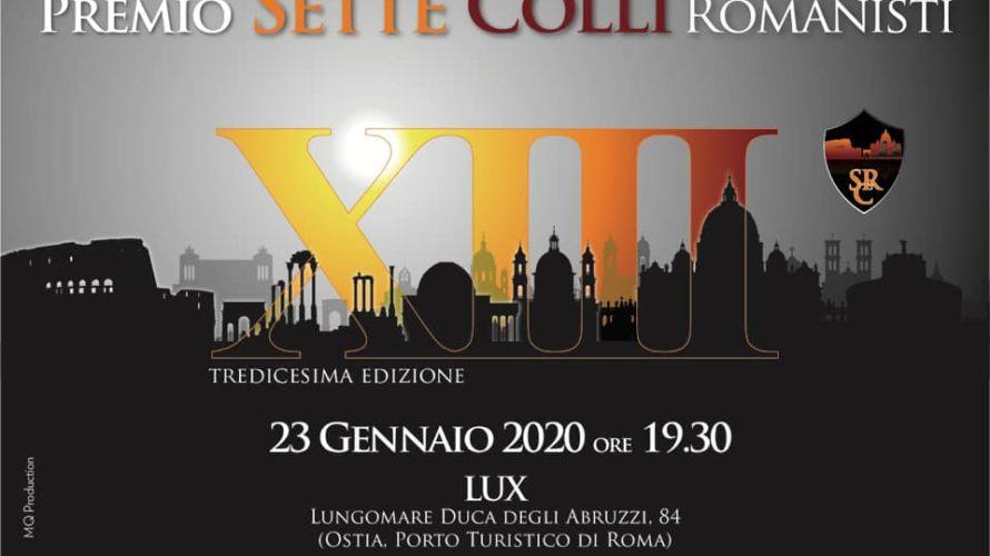 """Tutto pronto per la tredicesima Edizione del Premio """"Sette Colli""""è una manifestazione, organizzata da Fabrizio Pacifici, che si ripete alla vigilia del derby Roma-Lazio. La 13^ edizione si svolgerà, alle […]"""