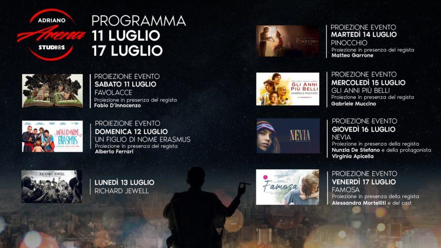 Una programmazione nel segno del glamour in collaborazione con Ferrero Cinemas L'ARENA ADRIANO STUDIOS ACCENDE LE NOTTI DELL'ESTATE ROMANA: QUESTA SETTIMANA OSPITI I REGISTI GARRONE E MUCCINO. Fino al 31 […]