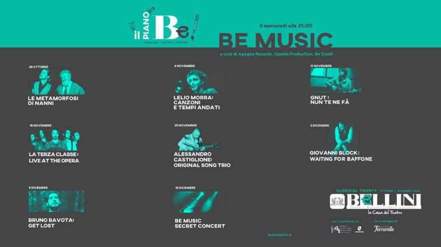 DAL 28 OTTOBRE AL 16 DICEMBRE 2020 Si rinnova il sodalizio tra Apogeo Records, Upside Production ed il collettivo BeQuiet per un'altra intensa stagione al Teatro Bellini di Napoli con […]
