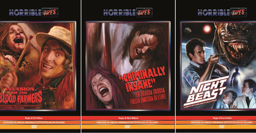 Dopo aver distribuito in dvd The children, Jesse James meets Frankenstein, The horrible house on the hill e i cult diretti dal maestro del trash Ed Wood, Horrible Tapes torna […]